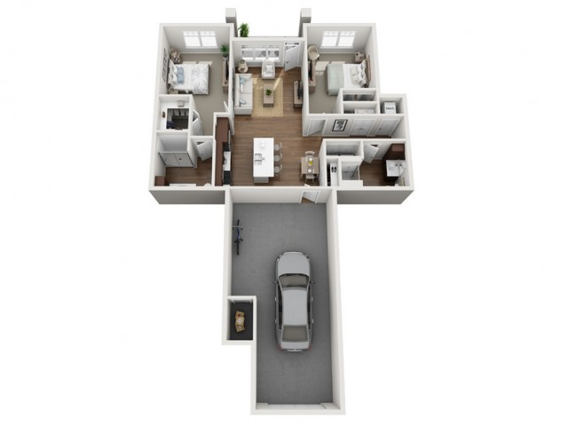 Floor Plan 2B | Seasons at Orchard Hills | Apartments in Oak Creek, WI