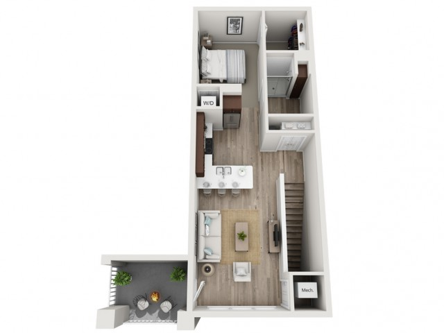 Floor Plan A | Seasons at Randall Road | Apartments in West Dundee, IL