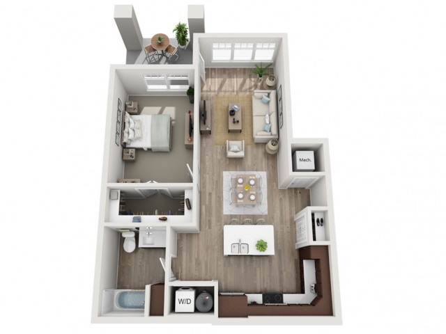 Floor Plan 1A | Seasons at Randall Road | Apartments in West Dundee, IL
