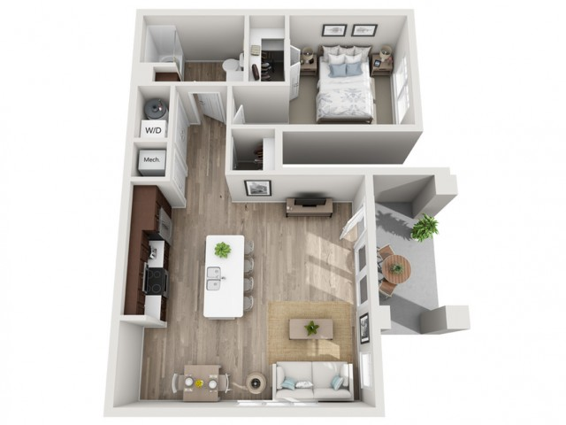 Floor Plan 1B | Seasons at Randall Road | Apartments in West Dundee, IL