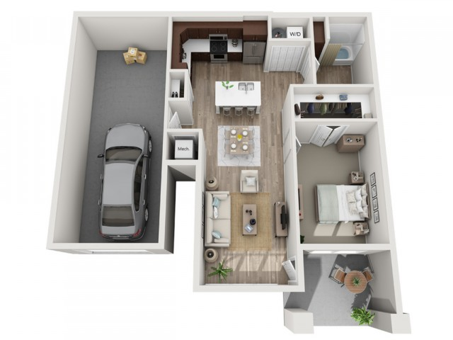 Floor Plan 1C | Seasons at Randall Road | Apartments in West Dundee, IL