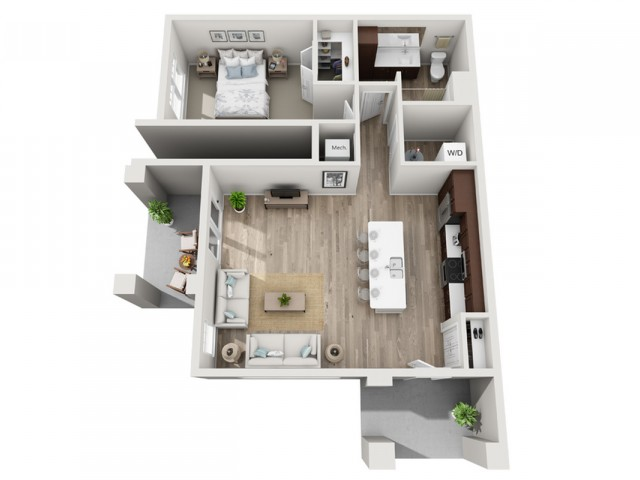 Floor Plan 1D | Seasons at Randall Road | Apartments in West Dundee, IL