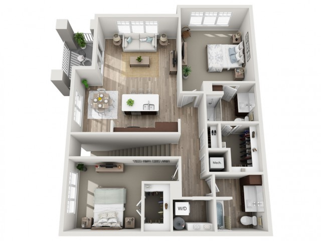 Floor Plan 2C | Seasons at Randall Road | Apartments in West Dundee, IL
