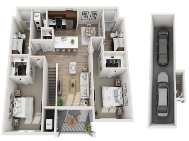 Floor Plan 2F | Seasons at Randall Road | Apartments in West Dundee, IL