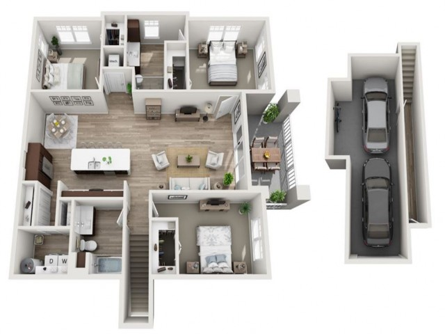 Floor Plan 3B | Seasons at Randall Road | Apartments in West Dundee, IL