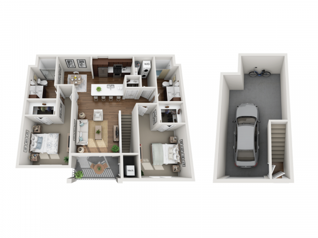 Floor Plan 2E | Seasons at Randall Road | Apartments in West Dundee, IL