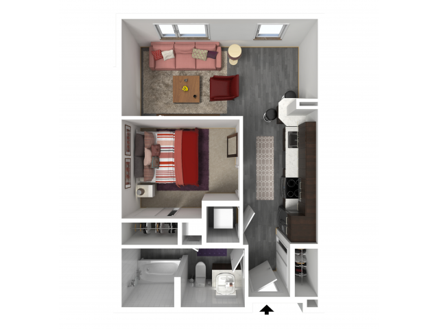 Floor Plan A1 | Forte at 84 South | Apartments in Greenfield, WI