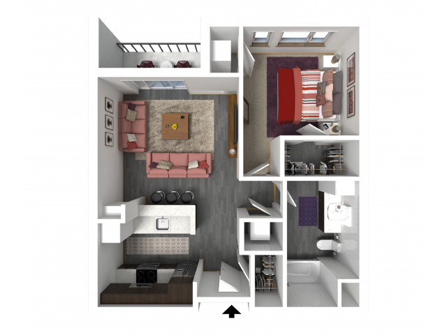 Floor Plan B1.1 | Forte at 84 South | Apartments in Greenfield, WI