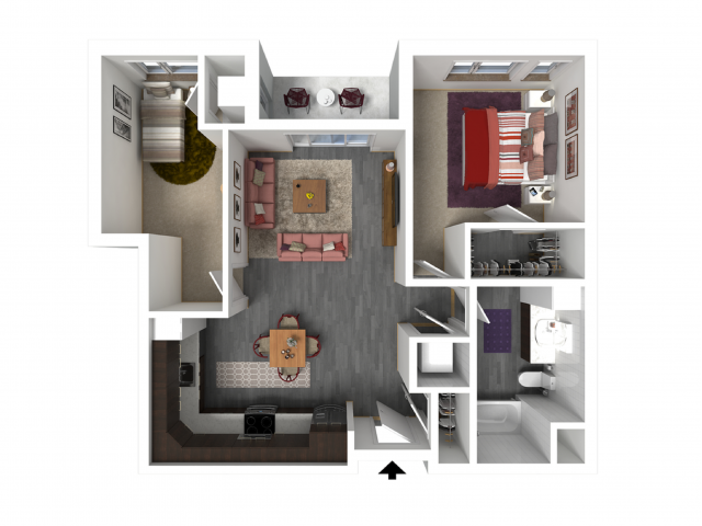 Floor Plan C1 | Forte at 84 South | Apartments in Greenfield, WI