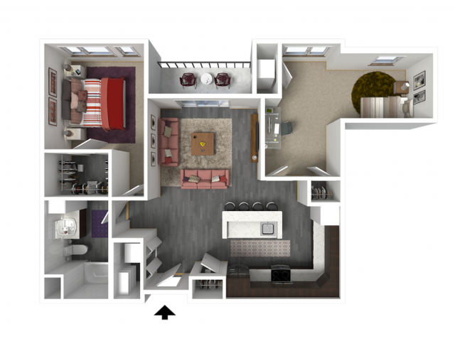 Floor Plan C3 | Forte at 84 South | Apartments in Greenfield, WI