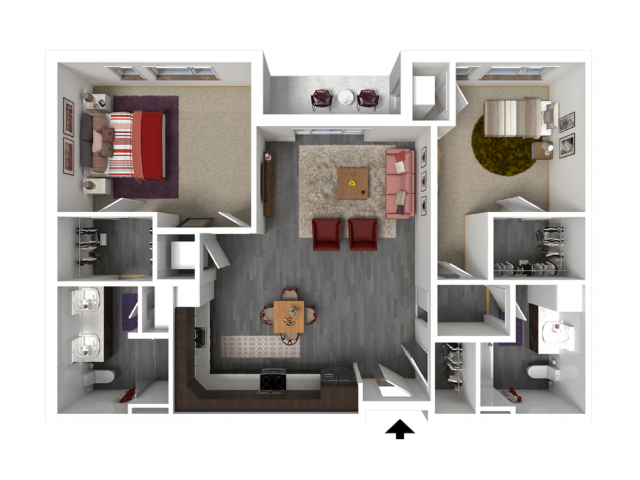 Floor Plan D4 | Forte at 84 South | Apartments in Greenfield, WI