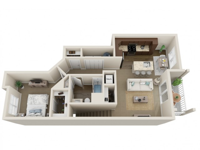 Floor Plan B | High Bluff Townhomes | Apartments in Grafton, WI