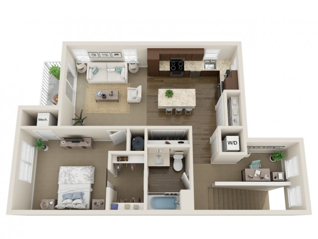 Floor Plan A2 | High Bluff Townhomes | Apartments in Grafton, WI