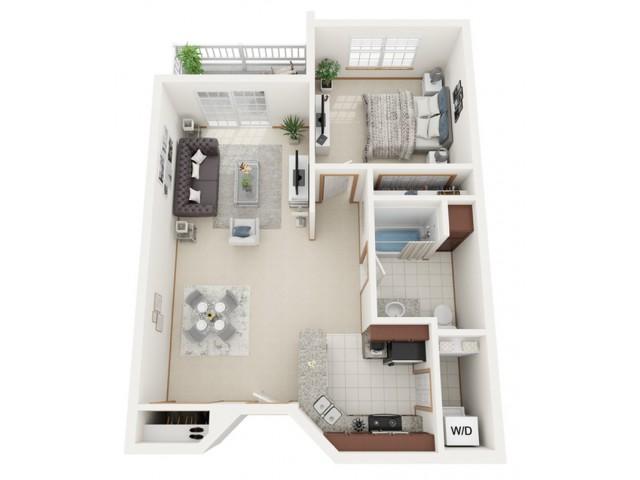Floor Plan A | Riverwood Apartments | Apartments in Kenosha, WI