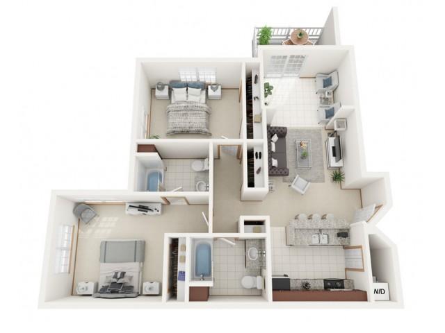 Floor Plan C | Riverwood Apartments | Apartments in Kenosha, WI