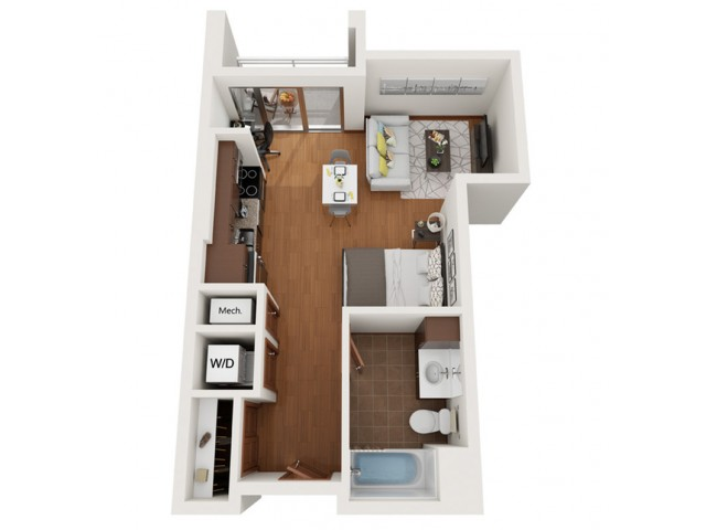 Floor Plan A | Domain | Apartments in Madison, WI