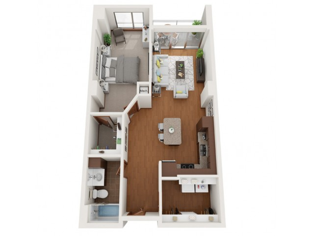 Floor Plan C | Domain | Apartments in Madison, WI