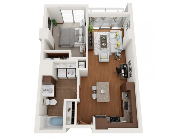 Floor Plan L4 | Domain | Apartments in Madison, WI