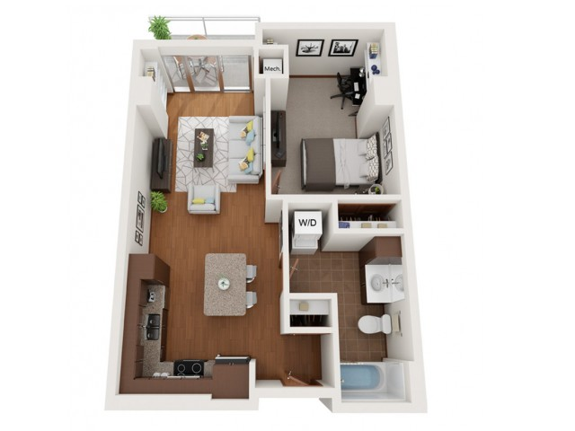 Floor Plan L5 | Domain | Apartments in Madison, WI
