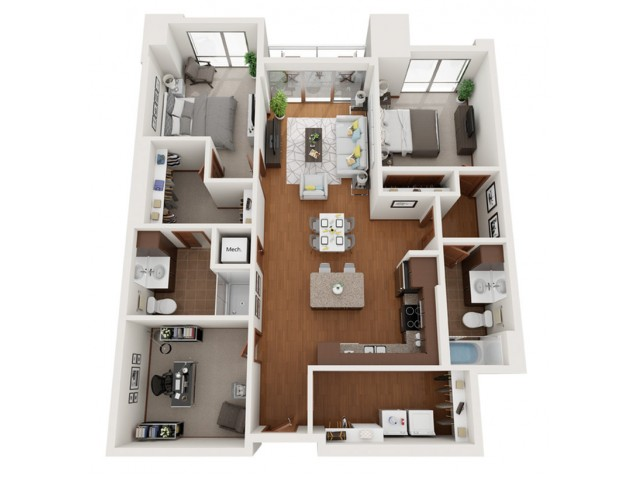 Floor Plan V | Domain | Apartments in Madison, WI
