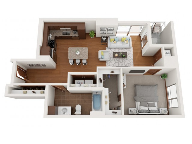 Floor Plan Y | Domain | Apartments in Madison, WI