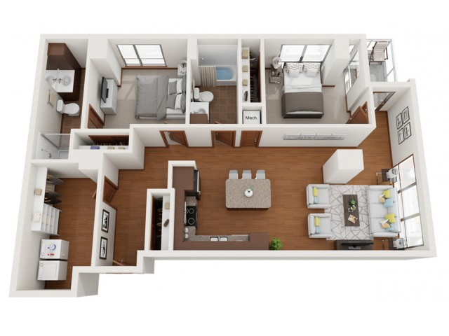 Floor Plan Z | Domain | Apartments in Madison, WI