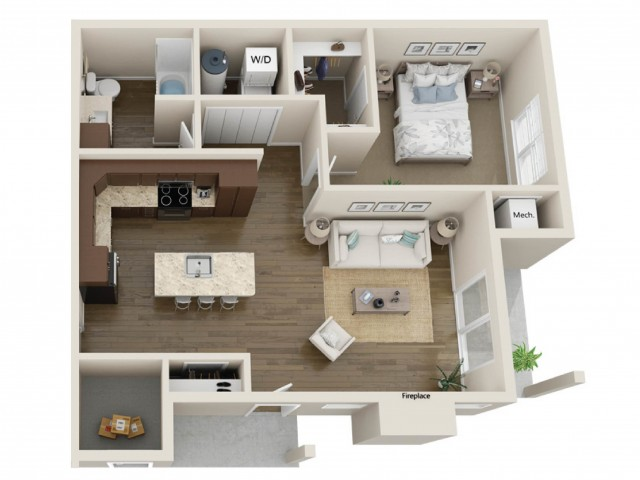 Floor Plan A | High Bluff Townhomes | Apartments in Grafton, WI