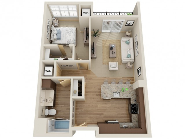 Floor Plan B4 | The Junction | Apartments in Menomonee Falls, WI