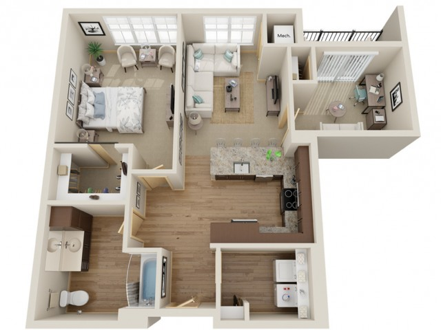 Floor Plan C1 | The Junction | Apartments in Menomonee Falls, WI