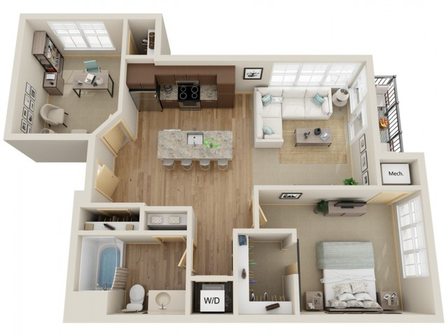 Floor Plan C2 | The Junction | Apartments in Menomonee Falls, WI