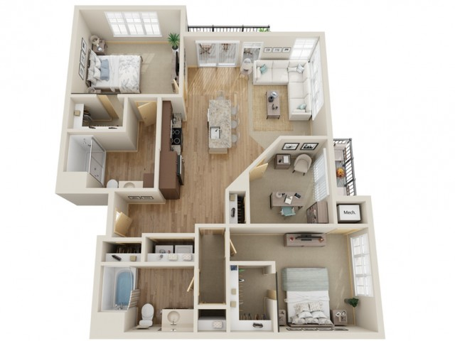 Floor Plan E1 | The Junction | Apartments in Menomonee Falls, WI