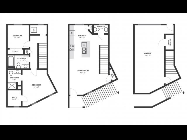 2D Floorplan T1