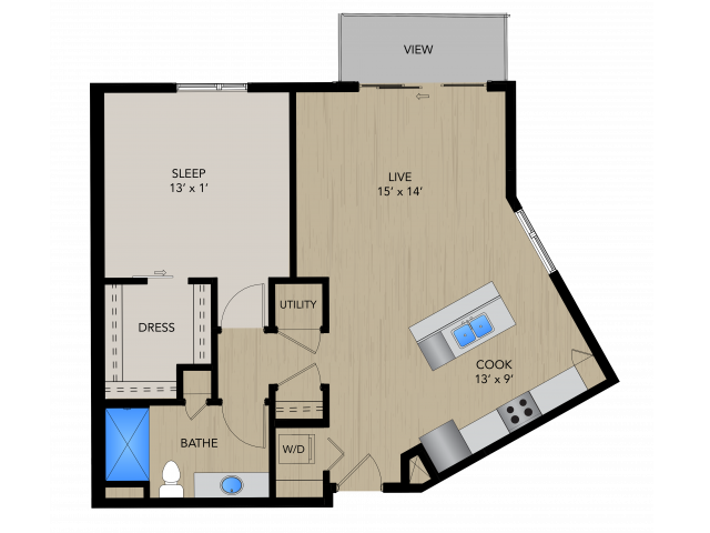 1D | 1505 Apartments & Townhomes