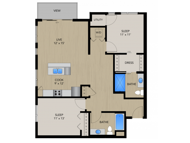2B | 1505 Apartments & Townhomes