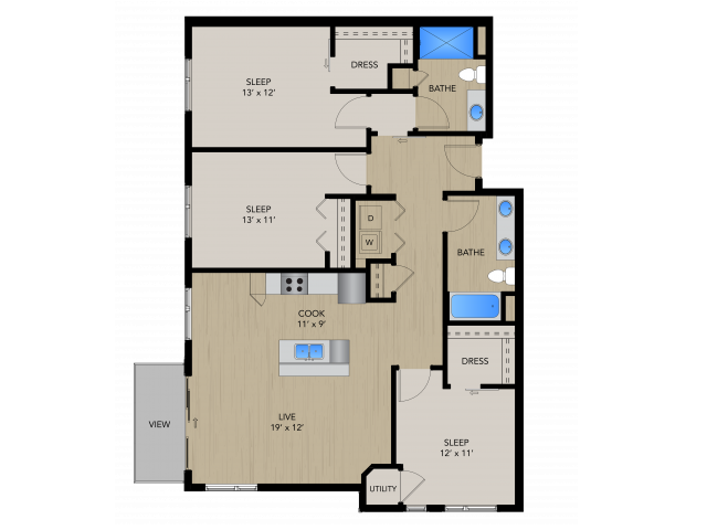 3B | 1505 Apartments & Townhomes