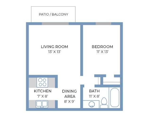 One Bedroom, One Bathroom   Fitchburg Square   Apartments in Fitchburg, WI