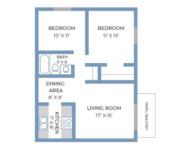 Two Bedroom, One Bathroom   Fitchburg Square   Apartments in Fitchburg, WI