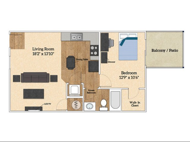 Floor Plan A | Savoy Apartments | The Village at Colbert Park