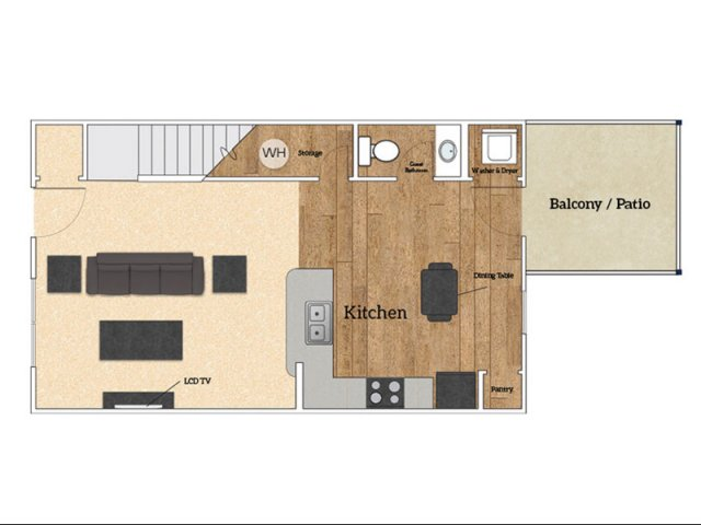 Floor Plan B1 | Savoy Apartments | The Village at Colbert Park