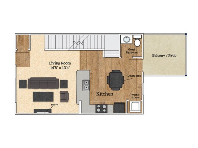 Floor Plan D1 | Savoy Apartments | The Village at Colbert Park