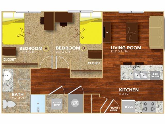 Floor Plan 3 | Lincoln Student Housing | 8 | N Lofts