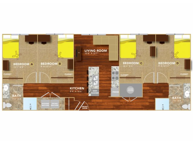 Floor Plan 9   Lincoln Student Housing   8   N Lofts