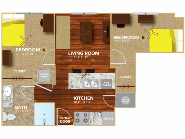 Floor Plan 2   Lincoln Student Housing   8   N Lofts