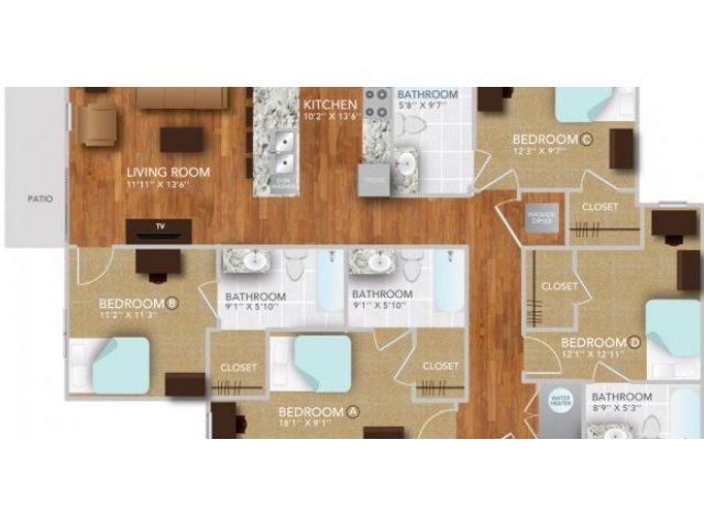DV | Fayetteville Arkansas Apartments | Atmosphere Apartments