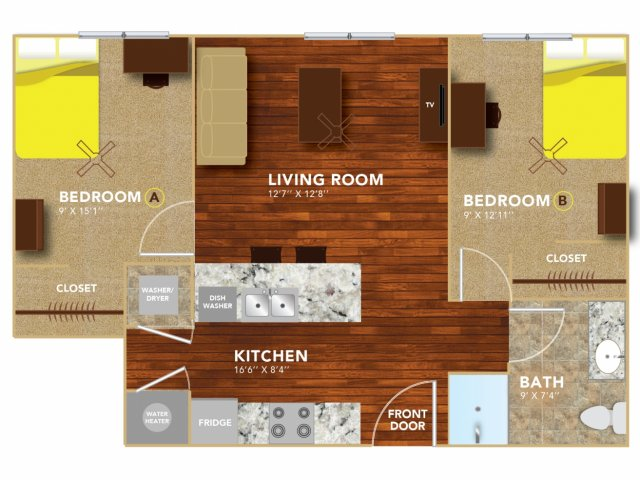 Floor Plan 4   Lincoln Student Housing   8   N Lofts