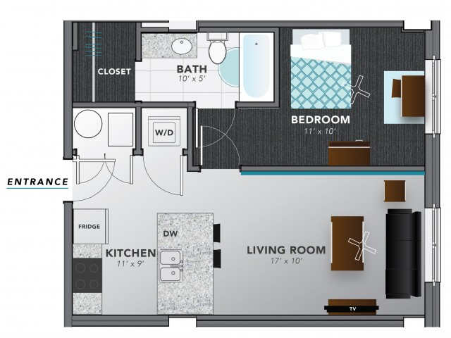 1 Bed 1 | Indianapolis Apartments | Lux on Capitol