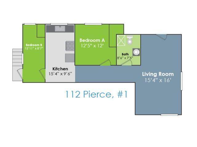Floor Plan A | Apartments in Lafayette IN | Collegiate Communities