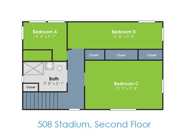 Floor Plan I | Apartments in Lafayette IN | Collegiate Communities