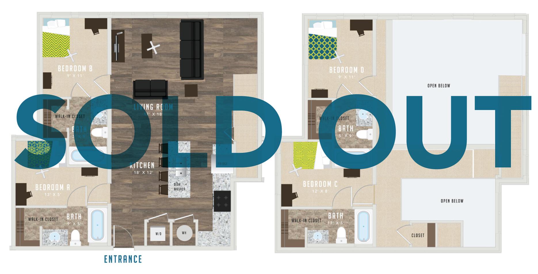Floor Plan Four - XIV at The Deacon