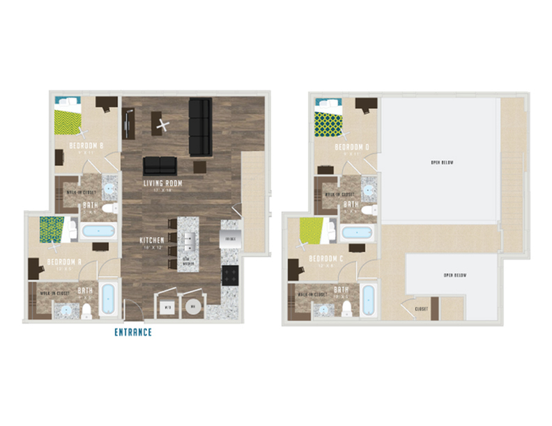 Floor Plan Four - XIV at The Deacon